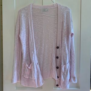 Abercrombie and Fitch light pink cardigan